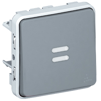 2-WAY SWITCH WITH INDIC GREY