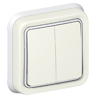 DOUBLE 2-WAY SWITCH F/M WHITE