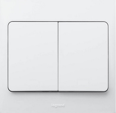 WHITE 2G 1W 10A SWITCH