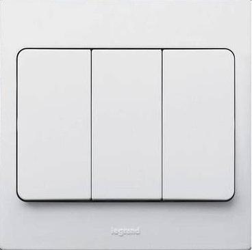 WHITE 3G 2W 10A SWITCH