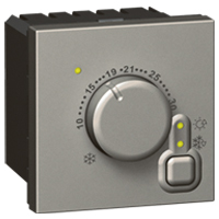 ELECTRONIC ROOM THERM  SQ ALU