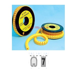 EC-0 Type Cable Marker (Plain Cut)