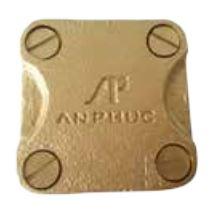 kẹp bản đồng vuông size 25x3mm - hợp kim đồng