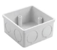 Square Box, Flush Mounting size 78x78x38mm